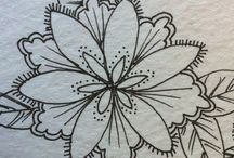 Art Doodle Flowers & Leaves & Paisleys / Doodling my favorite things, florals and paisley / by Pat Ferguson