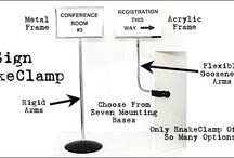 Sign SnakeClamp / Our Sign SnakeClamp is the most versatile display sign mount on the market!  Choose from a combination of flexible gooseneck tube or rigid arms and a wide variety of mounting bases.