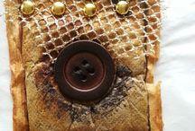 Tea bag art / Use of dry tea bags in art