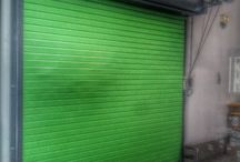 We can make any custom color / Sometimes a customer really wants an Apple Martini Lime Green color door. If so, we can make any custom color.  Another Installation by the SuperTechs at Overhead Door Company of The Meadowlands/NYC.