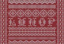 rood stof met borduurwerk