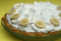 """Banana Banana Dana / About the only """"sweet"""" desert food that I can't resist is banana cream pie or pudding...funny because I don't eat banana's regularly. This is a collection of banana recipes that I could see myself eating."""