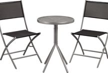 Set Patio Garden 3PC Bistro Furniture Outdoor Wicker Weave Folding Table Chairs