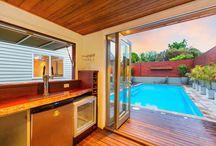 แบบบ้านและสระว่ายน้ำ