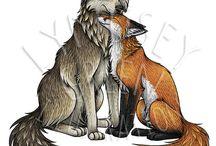 Art: Wolves - Paintings & Drawings
