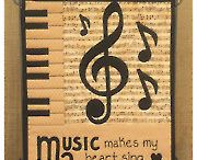 Applique pattern music note