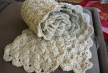 Crochet / http://www.allfreecrochet.com/Pillows/Off-White-Ruffle-Rose-Pillow-from-Red-Heart-Yarn/ml/1 / by Kelly Eakins