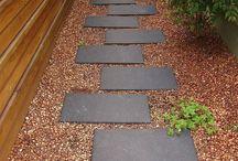 Front garden / paths
