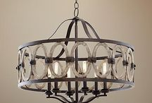 Rough iron chandeliers