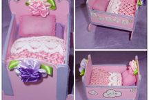 Handmade Cradle / Cute pink cradle handmade for a little girl called Agata.
