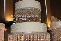 Свадебные торты, отделанные стразами
