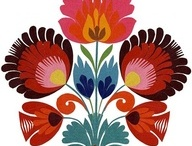 Folk art flowers