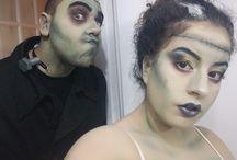Halloween Frankenstein couple
