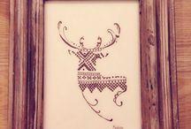 Drawing frame wood / Kunst