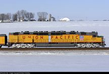 Union Pacific / The Union Pacific Railroad is a Class I line haul freight railroad that operates 8,300 locomotives over 31,800 route-miles in 23 states west of Chicago, Illinois and New Orleans, Louisiana.  / by astrogater's Odyssey