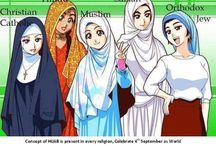 """Covered / Pictures celebrating female modesty with a focus on pictures of ladies with their heads covered. Modesty is a quality of the majority of world religions. The word """"hijab"""" in Arabic means to cover but may also refer to the Islamic principle of modesty which includes covering ones head. Enjoy! :) <3"""