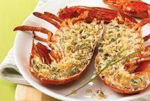 La saison du Homard / Délicieuses recettes à cuisiner avec du homard.