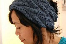 Head bands knitted