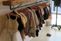 Vintage clothrs racks