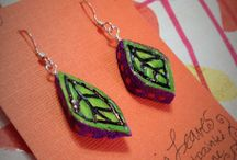 Jenny T. Jewelry / Handmade, original jewelry made with sterling silver, semi precious stones, sometimes hand cut, wood burned, painted or hand drawn shrink film jewelry.