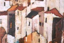 Huizen schilderijen