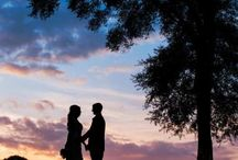 Sunset Wedding Portraits / Sunset wedding pictures at St. Johns Golf and Country Club