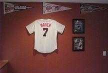 Minnesota Twins Baseball / Twins jerseys displayed using the Ultra Mount jersey display.