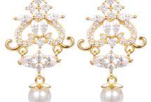 High Earring ESHG0016 / 2017 wholesale hot beautiful 18k gold plate earrings jewelry designs , latest design of pearl pendant earrings for women