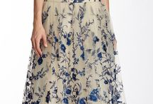 navy blue cream floral gown