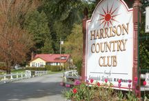 Harrison Country Club RV Resort / Harrison Country Club RV Resort is an Annual campers campground located in Harrison Hot Springs, providing long level sites, 30 amp, pull through, cable TV, tent sites, spotless washrooms, free showers, laundry, rec hall, games, canoe rentals, trail maps, valet parking; located two minutes from beach and public hot pool.