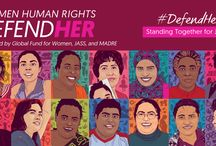 #DefendHer: Standing Together for Justice / Meet 14 incredible women human rights defenders and groups around the world who are working to end violence against women; advance LGBTQI rights; protect the planet and the rights of indigenous communities; and more! http://bit.ly/2cyh5Nn