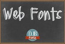 Web Fonts / Did you know that DJB Fonts are also available as web fonts for illustrators and designers?