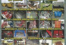 Tool Auction - 9-27-2014 at Pioneer Pole Buildings / Very Large Pro Grade Tool Auction! Saturady, September 27th, 2014 at 9am!  Click Here to see more Photos: http://www.geyerauctions.com/auctions/sep_27_14/  Over $200,000 of Tool Inventory!  Auction Includes: Work Trucks 5 Ford Vans Cat Scraper 2 Bobcats Trailers 125+ Sets of Wrenches 200+ Sets of Sockets 25+ Torque Wrenches 100+ Air Tools Specialty Tools Large Boxes & Carts Salt Spreader Equipment & Attachments Steel The Doors Vending Machines Truck Caps Snap On Tools & Much More!