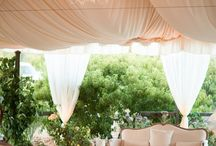 Tents / This board shows many options for decorating a tent for an outdoor wedding or event.
