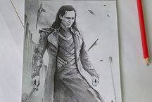 my own drawings / drawing people, animals and movie characters or theme pictures