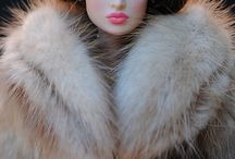 futerkowe lale i misie / Furry dolls & bears