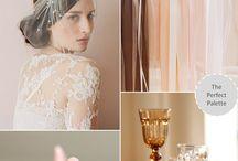 Wedding vintage color palette