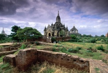 Bagan, Myanmar / The surreal temple-scape of the 4,000 temples of Bagan. At her height their were 13,000, when Bagan was for 1,000 years the world center of Theravadan Buddhism. Kublai Kahn and the Mongols put an end to that in 1287. It is a place that must simply we seen in person. Allow us? #travel, #travel photography, #photo tours, Myanmar