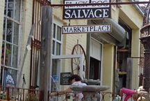 junking (flea markets, salvage shops, thrift stores, garage sales, etc)