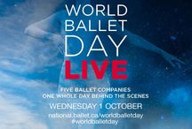 #WorldBalletDay / #WorldBalletDay takes over on Wednesday, October 1, 2014. The full day of live stream will take you behind the scenes of 5 of the world's top ballet companies: The Australian Ballet, Bolshoi Ballet, The Royal Ballet, San Francisco Ballet and The National Ballet of Canada.  Visit national.ballet.ca/worldballetday or our YouTube Channel (youtube.com/nationalballetcanada) on October 1 at 10:00 am. / by The National Ballet of Canada