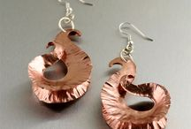 Copper Earrings / Handcrafted copper earrings add instant glamour and posh to any outfit. Many styles are becoming fashion-forward accessories as more and more jewelry designers incorporate copper into their collections. Shop a wide variety of anticlastic, chased, corrugated, embossed, fold formed, hammered, and texturized copper earrings in seductive styles from trendy to glam and get ready to shine! / by John S Brana - Handmade Jewelry