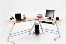 Office Desk Corner Furniture Computer Work Study Storage Unit Home Student Work