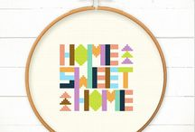 Cross stitch and embroidery.