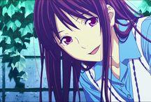 Noragami_Aragoto / Hiyori = Gata linda! Yato = Deus da calamidade<3 Yukine = FOFO!! *-*