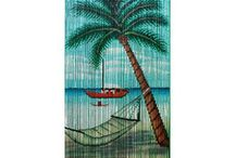 Nautical Curtains for Patio doors / I had found a set of curtains I like but  can't seem to find again. They were see thru a scene from the beach with a palmtree looking out on the ocean with a sailboat sailing by.