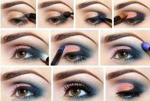 Make up / Brown eyes, lipstick, application / by C B