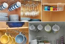 Organização de armários de cozinha