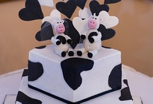 Cow wedding cakes