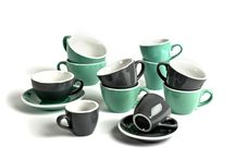 Espresso range / It's the small innovations that make Acme hugely different. Handles you can fit your fingers in. Saucers sold separately from cups. The universal 145mm saucer - fits tulip, flat white and cappuccino styles. Range of seven beautiful colours.