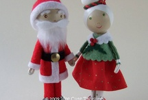 Christmas.... Ornaments Clothes Pin dolls / by Diana Shires